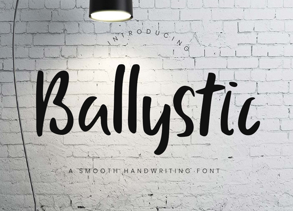 Ballystic Handwriting Free Font Design