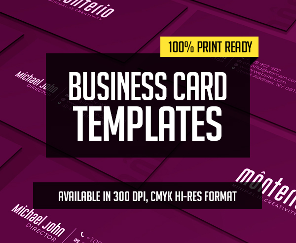 New Creative Business Card Templates – 28 Print Design