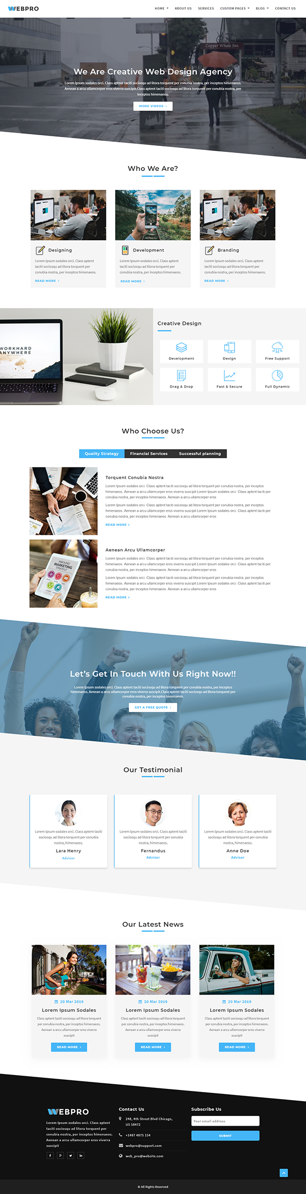 WebPro - Corporate WordPress Theme