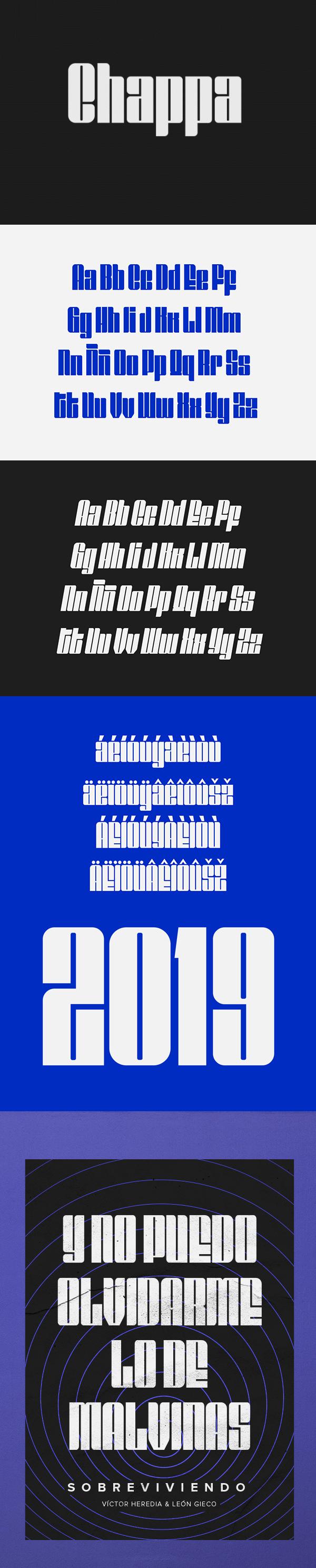 Chappa Free Font Design