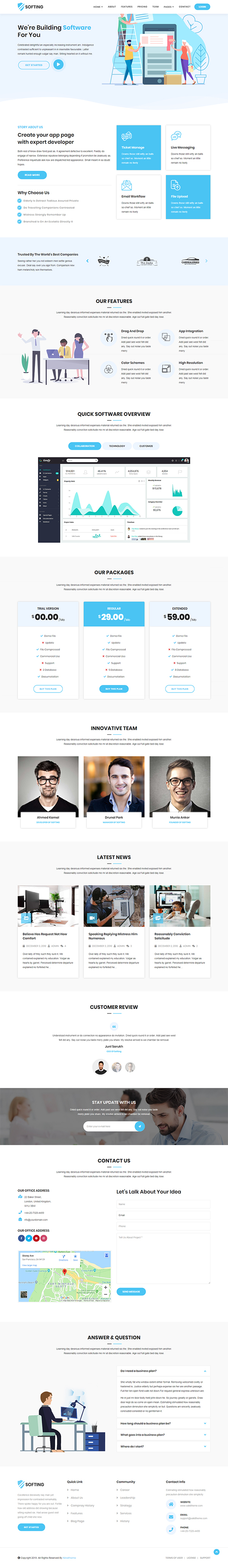 Softing - Responsive WordPress Software Landing Page Theme