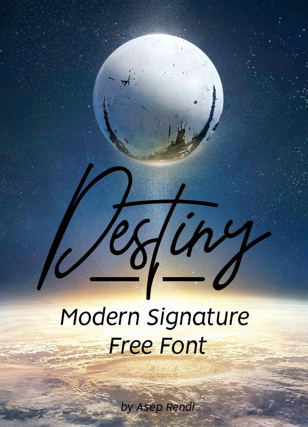 Destiny Free Signature Font