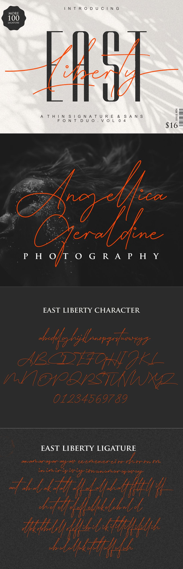 East Liberty | Thin Signature & Sans Free Font Design