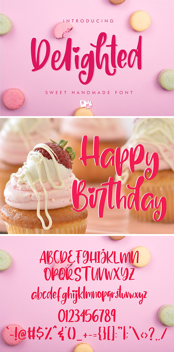 Delighted Sweet Handmade Font Design