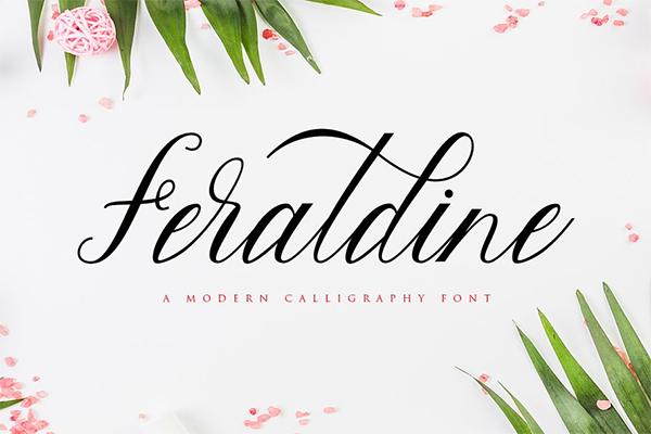 Feraldine Script Font Design