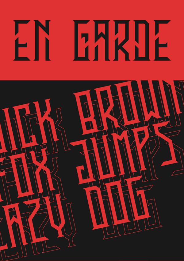 EN Garde Free Font Design