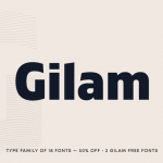 Gilam: A modern geometric sans serif font