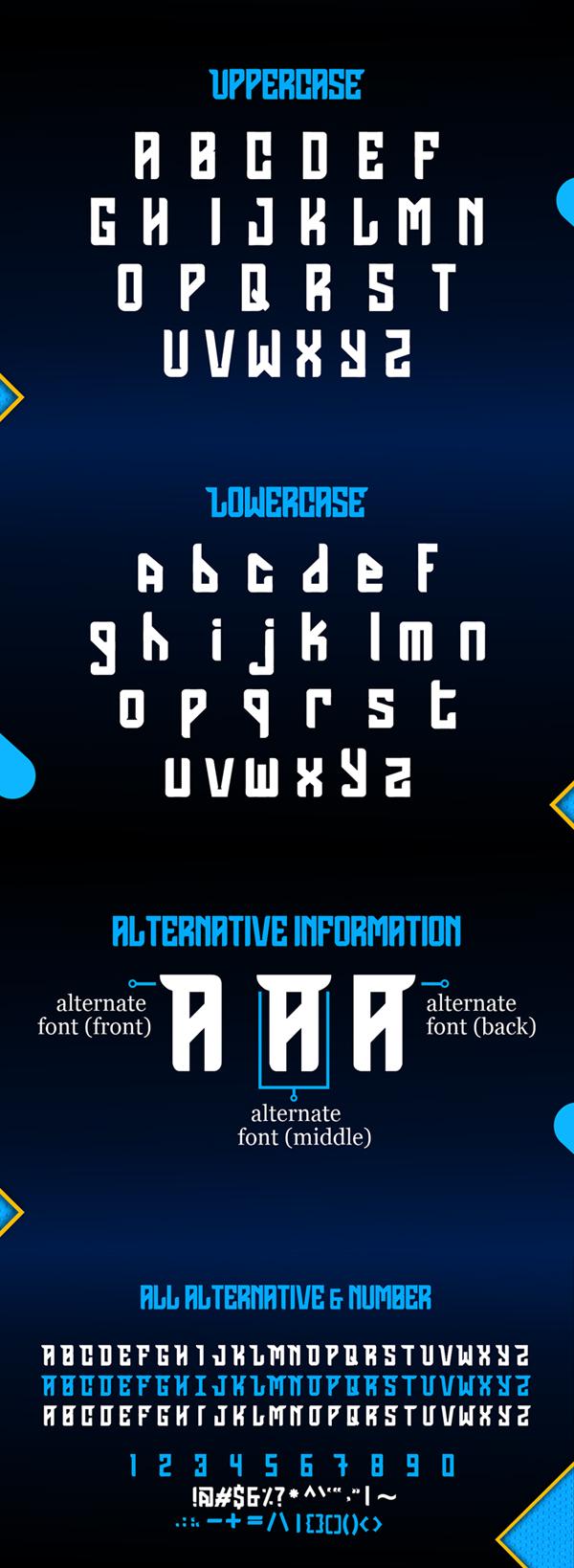 Grames Free Font Letters
