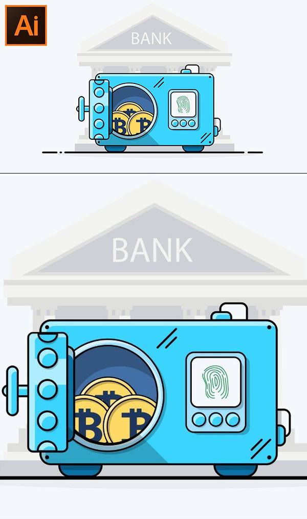 How to Design Flat Icon in Adobe Illustrator CC Tutorial