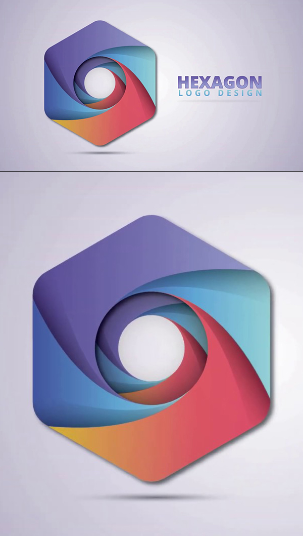 How to Create a Hexagon Logo Design in Illustrator Tutorial