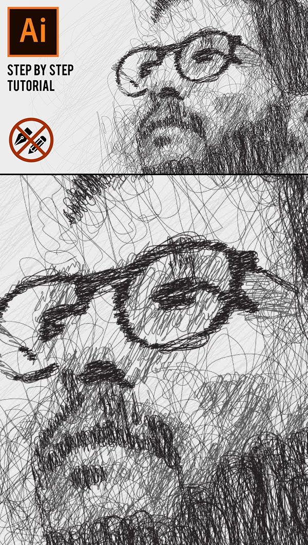 How to Draw Vector Portrait Sketch in Adobe Illustrator Tutorial
