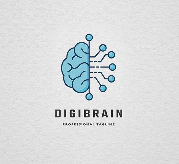 Digital Brain Logo Design