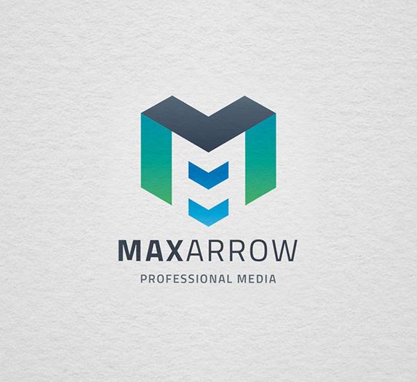 Max Arrow Letter M Logo Design