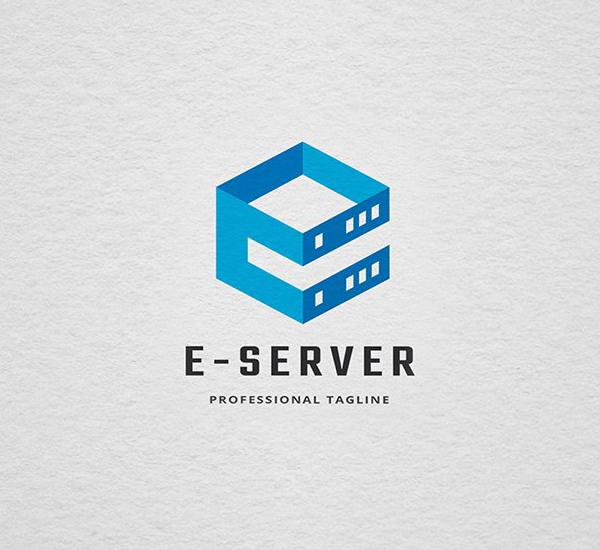 Letter E-Server Logo Design