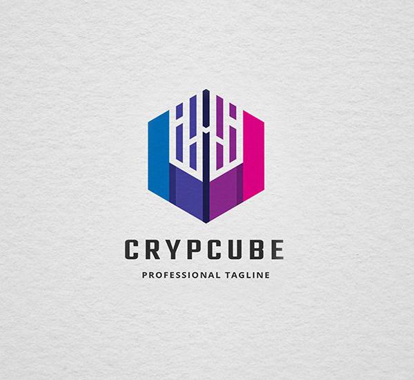 Crypto Cube Logo Design