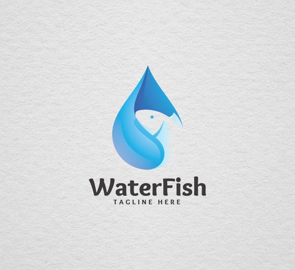 Water Fish - Logo Template Design