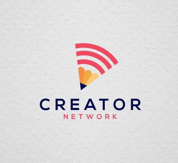 Creator Network Logo Template Design