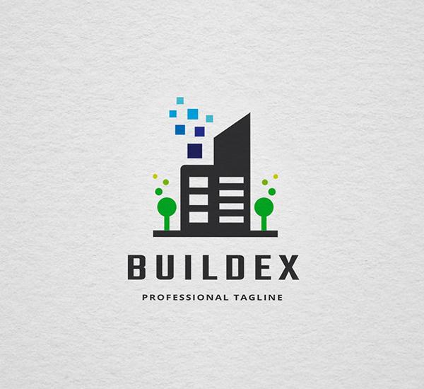 Pixel Build Logo Design