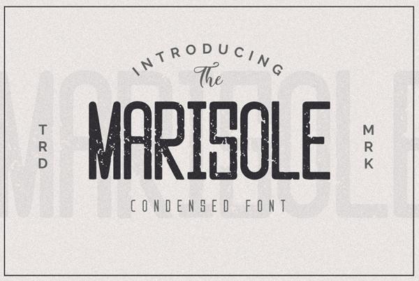 Marisole Vintage Textured Free Font Design