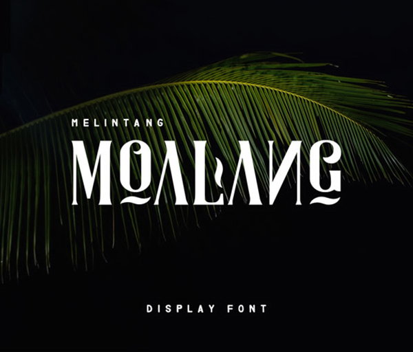 Moalang Display Free Font Design