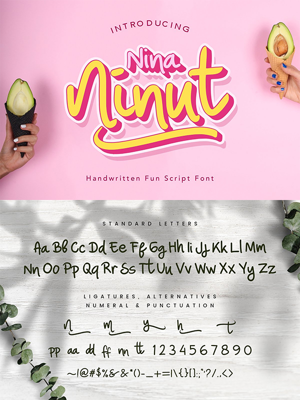 Nina Ninut – Fun Handwritten Font Design