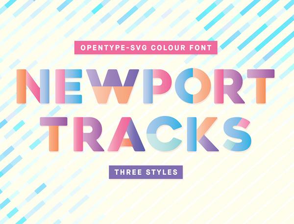 Newport Tracks Free Font