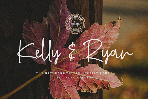Kelly   Ryan The Handwritten Font Design