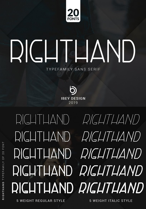 RightHand Free Font Design