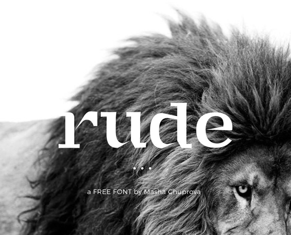 Rude Handcrafted Serif Free Font