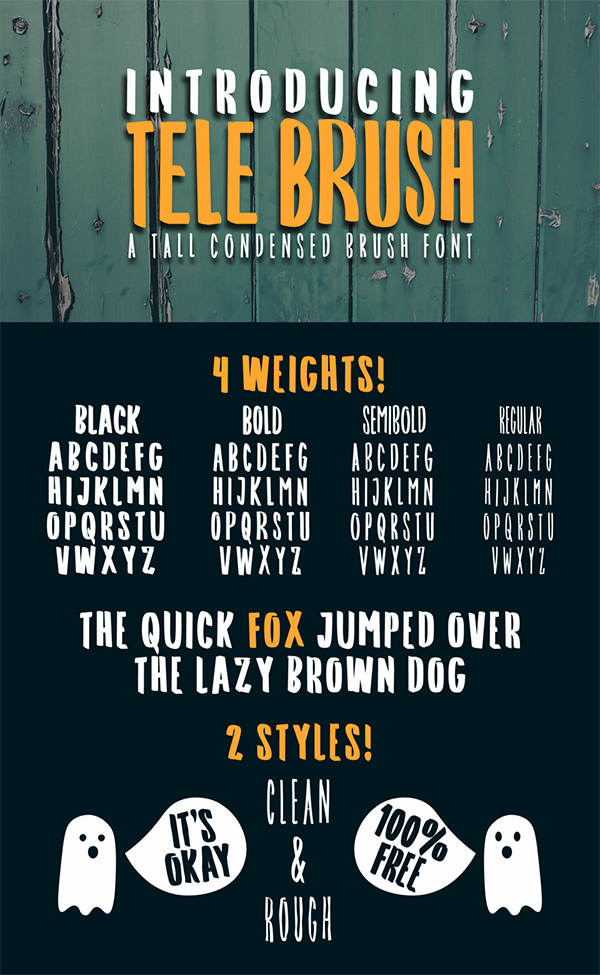 Tele Brush Free Font Design