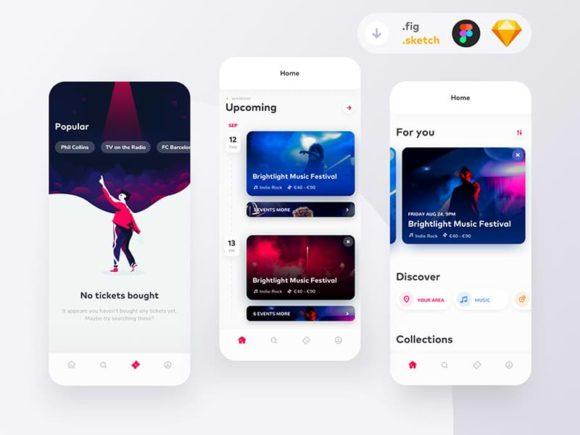 Ticketapp: Free event booking app concept