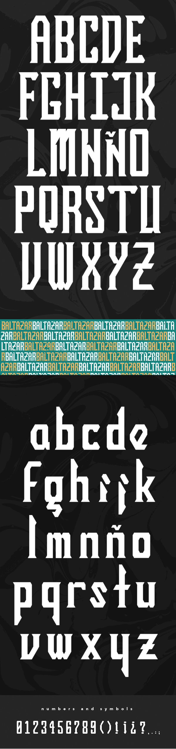 BALTAZAR Blackletter Free font letters