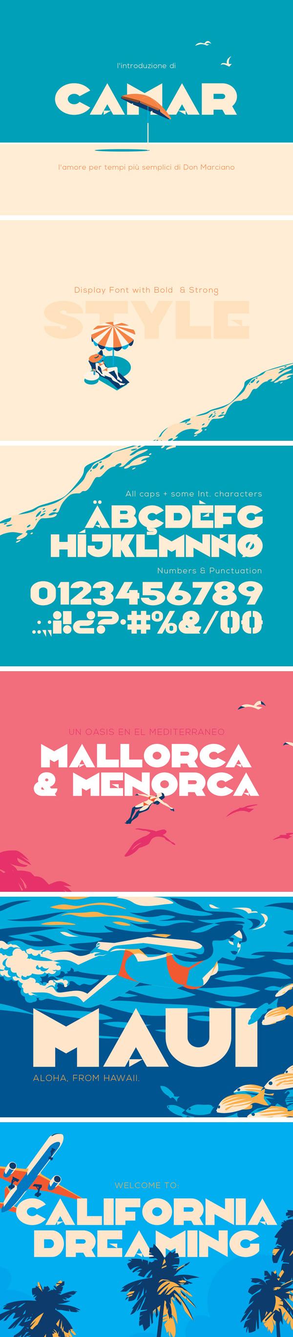 Camar Vintage Free font