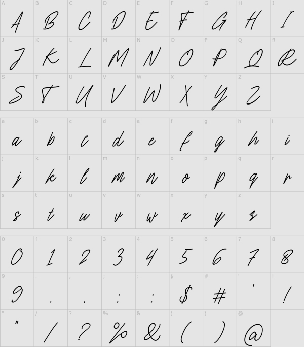 Charlion Free font letters