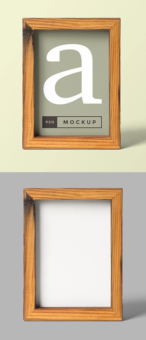 Free Wood Frame Mockup PSD