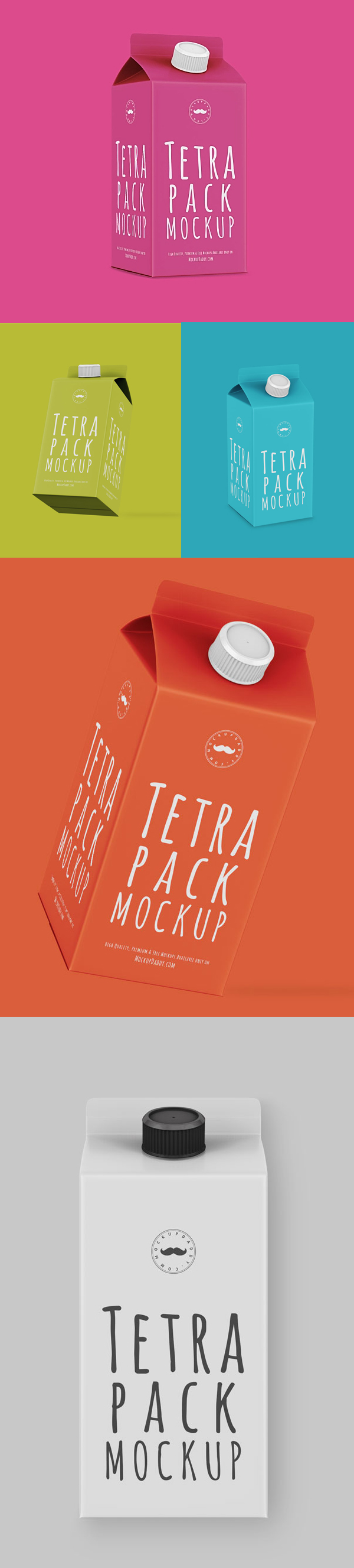 Free Tetra Pack Mockup PSD