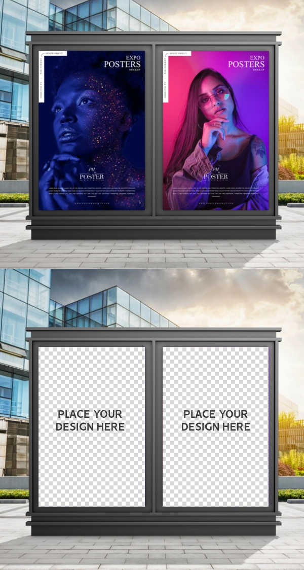 Free Outdoor Expo Posters Mockup PSD