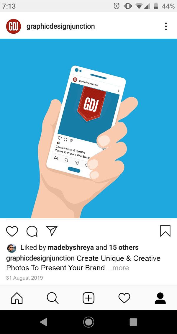 Instagram Brand Unique & Creative Photos
