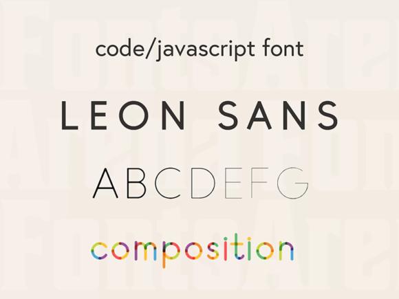 Leon Sans: A geometric typeface based on JavaScript