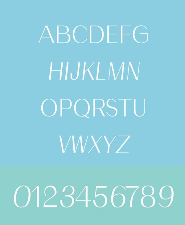 Malak Free font letters