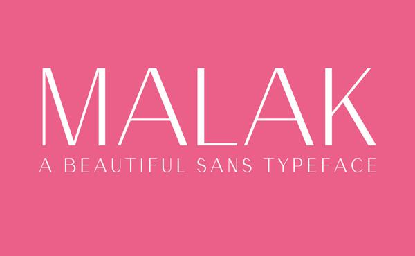 Malak Free font
