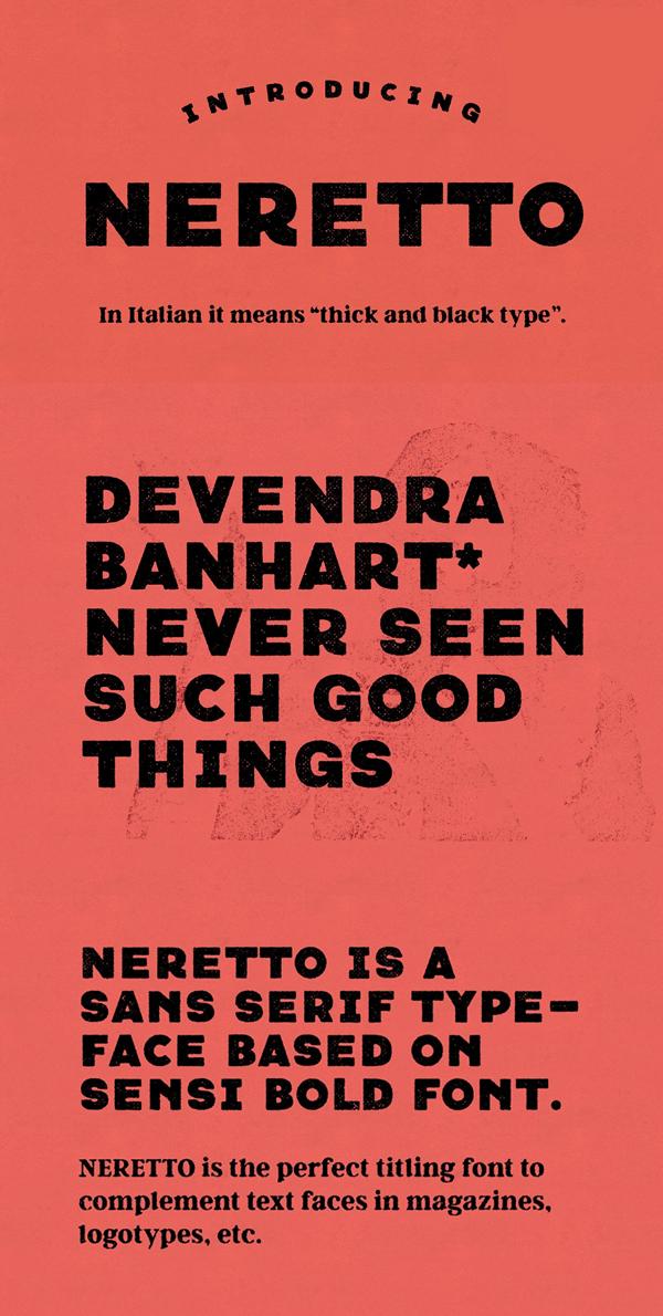 Neretto Sans Free font