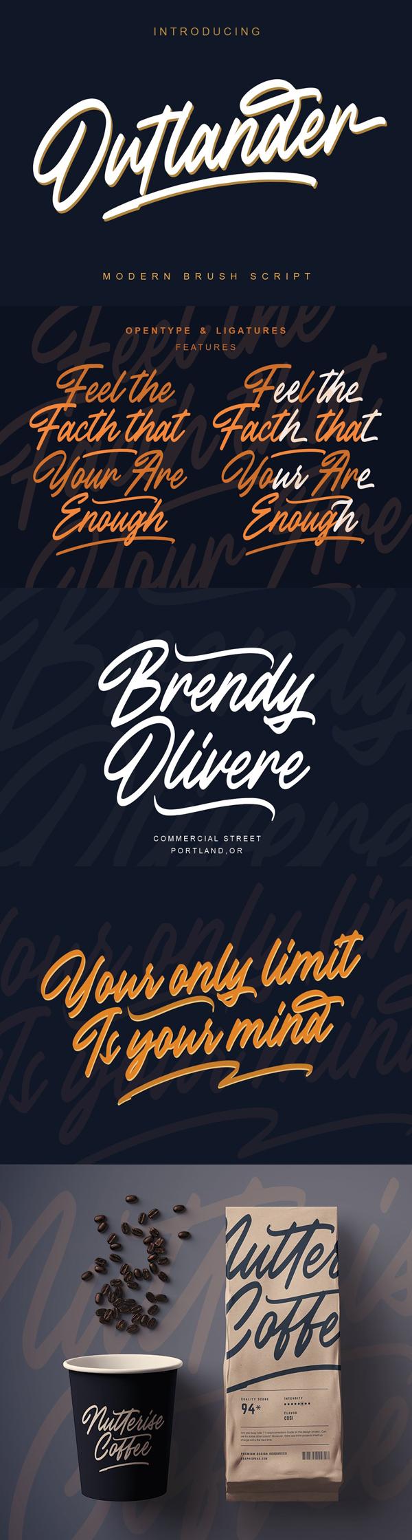 Outlander Brush Script Free font
