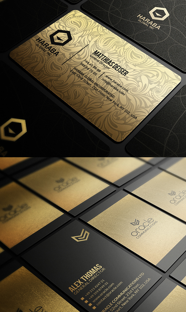 Gold Business Cards Bundle