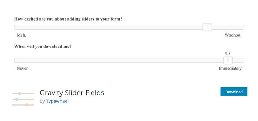 Gravity Slider Fields