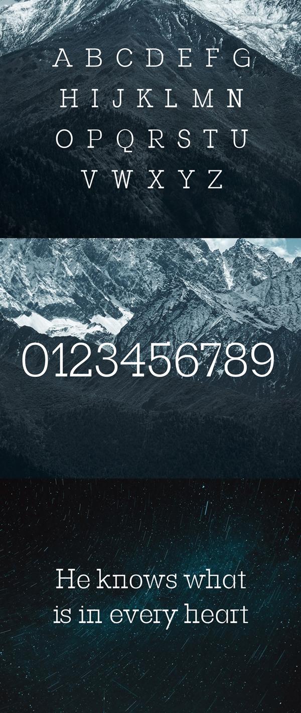 Basel Slab Serif Free Font Letters