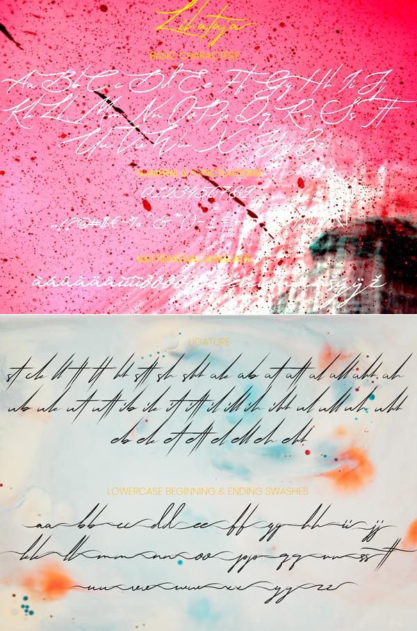 Lihataja Handbrush Free Font Letters
