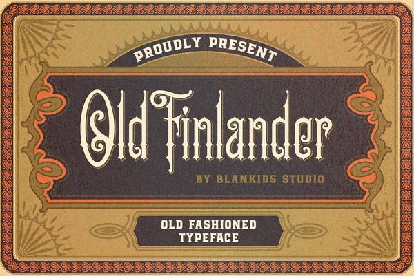 Old Finlander Free Font