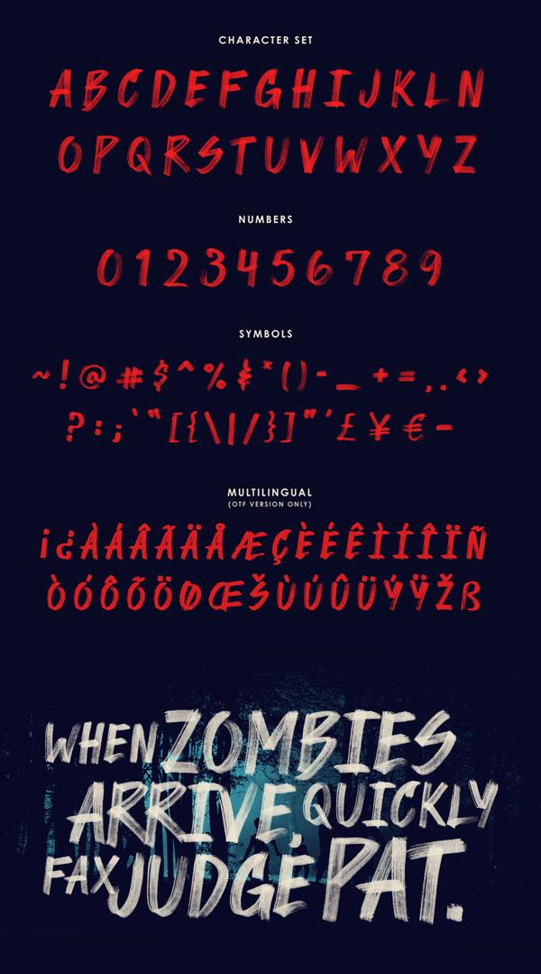 Sinistral Brush Free Font Letters