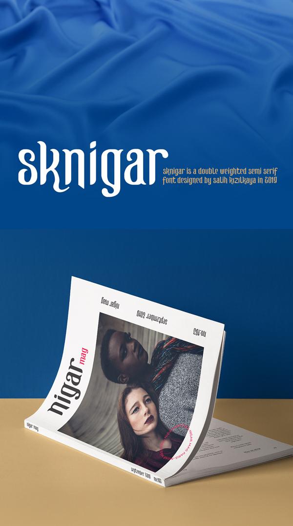 SK Nigar Free Font